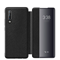 Coque Portefeuille Livre Cuir Etui Clapet L03 pour Huawei P30 Noir