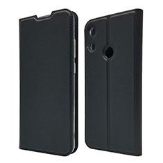 Coque Portefeuille Livre Cuir Etui Clapet L03 pour Huawei Y6 (2019) Noir