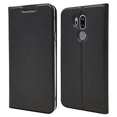 Coque Portefeuille Livre Cuir Etui Clapet L03 pour LG G7 Noir