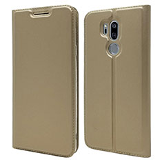 Coque Portefeuille Livre Cuir Etui Clapet L03 pour LG G7 Or