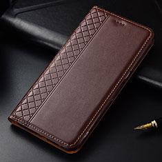 Coque Portefeuille Livre Cuir Etui Clapet L03 pour LG G8 ThinQ Marron