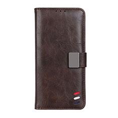 Coque Portefeuille Livre Cuir Etui Clapet L03 pour LG K92 5G Marron