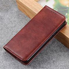 Coque Portefeuille Livre Cuir Etui Clapet L03 pour LG Q52 Marron
