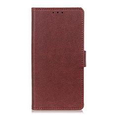 Coque Portefeuille Livre Cuir Etui Clapet L03 pour LG Velvet 4G Marron