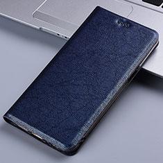 Coque Portefeuille Livre Cuir Etui Clapet L03 pour Motorola Moto E7 Plus Bleu