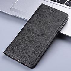 Coque Portefeuille Livre Cuir Etui Clapet L03 pour Motorola Moto E7 Plus Noir