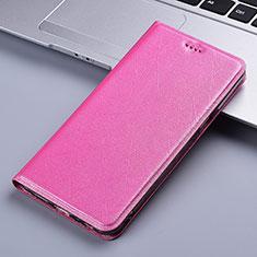 Coque Portefeuille Livre Cuir Etui Clapet L03 pour Motorola Moto E7 Plus Rose