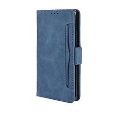 Coque Portefeuille Livre Cuir Etui Clapet L03 pour Motorola Moto Edge Plus Bleu