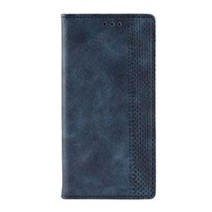 Coque Portefeuille Livre Cuir Etui Clapet L03 pour Motorola Moto G9 Bleu