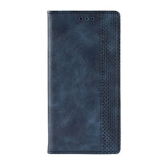 Coque Portefeuille Livre Cuir Etui Clapet L03 pour Motorola Moto G9 Play Bleu