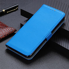 Coque Portefeuille Livre Cuir Etui Clapet L03 pour Motorola Moto G9 Plus Bleu Ciel