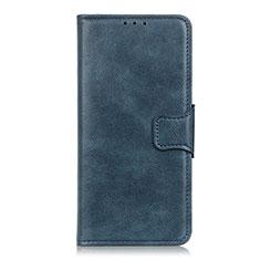 Coque Portefeuille Livre Cuir Etui Clapet L03 pour Motorola Moto One Fusion Bleu