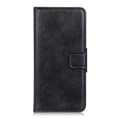 Coque Portefeuille Livre Cuir Etui Clapet L03 pour Motorola Moto One Fusion Noir