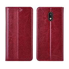 Coque Portefeuille Livre Cuir Etui Clapet L03 pour Nokia 1.3 Rouge