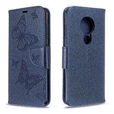 Coque Portefeuille Livre Cuir Etui Clapet L03 pour Nokia 6.2 Bleu