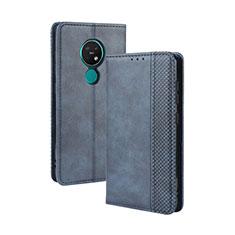 Coque Portefeuille Livre Cuir Etui Clapet L03 pour Nokia 7.2 Bleu