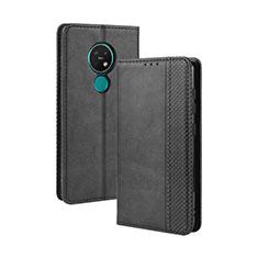 Coque Portefeuille Livre Cuir Etui Clapet L03 pour Nokia 7.2 Noir
