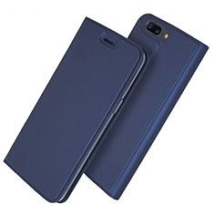 Coque Portefeuille Livre Cuir Etui Clapet L03 pour OnePlus 5T A5010 Bleu