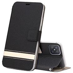 Coque Portefeuille Livre Cuir Etui Clapet L03 pour Oppo Reno4 Z 5G Noir