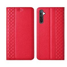 Coque Portefeuille Livre Cuir Etui Clapet L03 pour Realme X2 Rouge