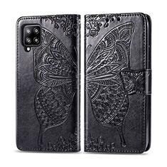 Coque Portefeuille Livre Cuir Etui Clapet L03 pour Samsung Galaxy A42 5G Noir