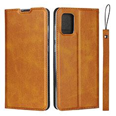 Coque Portefeuille Livre Cuir Etui Clapet L03 pour Samsung Galaxy A51 4G Brun Clair