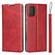 Coque Portefeuille Livre Cuir Etui Clapet L03 pour Samsung Galaxy A51 4G Rouge