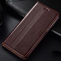 Coque Portefeuille Livre Cuir Etui Clapet L03 pour Samsung Galaxy A81 Marron