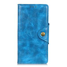 Coque Portefeuille Livre Cuir Etui Clapet L03 pour Samsung Galaxy M31 Prime Edition Bleu Ciel
