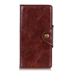 Coque Portefeuille Livre Cuir Etui Clapet L03 pour Samsung Galaxy M31 Prime Edition Marron