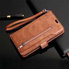 Coque Portefeuille Livre Cuir Etui Clapet L03 pour Samsung Galaxy S20 5G Marron