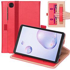 Coque Portefeuille Livre Cuir Etui Clapet L03 pour Samsung Galaxy Tab A7 4G 10.4 SM-T505 Rouge