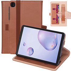 Coque Portefeuille Livre Cuir Etui Clapet L03 pour Samsung Galaxy Tab A7 Wi-Fi 10.4 SM-T500 Marron
