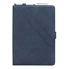 Coque Portefeuille Livre Cuir Etui Clapet L03 pour Samsung Galaxy Tab S5e 4G 10.5 SM-T725 Bleu