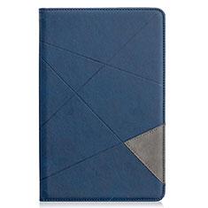 Coque Portefeuille Livre Cuir Etui Clapet L03 pour Samsung Galaxy Tab S6 Lite 4G 10.4 SM-P615 Bleu