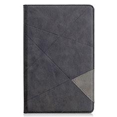 Coque Portefeuille Livre Cuir Etui Clapet L03 pour Samsung Galaxy Tab S6 Lite 4G 10.4 SM-P615 Noir