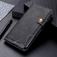 Coque Portefeuille Livre Cuir Etui Clapet L03 pour Sharp AQUOS Sense4 Plus Noir