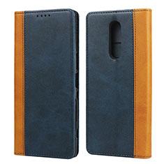 Coque Portefeuille Livre Cuir Etui Clapet L03 pour Sony Xperia 1 Bleu