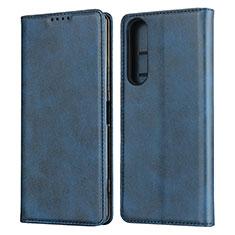 Coque Portefeuille Livre Cuir Etui Clapet L03 pour Sony Xperia 1 II Bleu