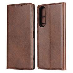 Coque Portefeuille Livre Cuir Etui Clapet L03 pour Sony Xperia 1 II Marron