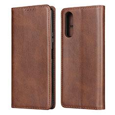 Coque Portefeuille Livre Cuir Etui Clapet L03 pour Sony Xperia 10 II Marron