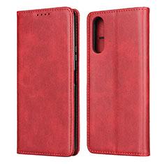 Coque Portefeuille Livre Cuir Etui Clapet L03 pour Sony Xperia 10 II Rouge