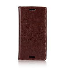 Coque Portefeuille Livre Cuir Etui Clapet L03 pour Sony Xperia XZ1 Compact Marron