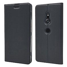 Coque Portefeuille Livre Cuir Etui Clapet L03 pour Sony Xperia XZ2 Noir