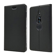 Coque Portefeuille Livre Cuir Etui Clapet L03 pour Sony Xperia XZ2 Premium Noir