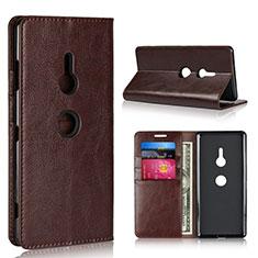 Coque Portefeuille Livre Cuir Etui Clapet L03 pour Sony Xperia XZ3 Marron