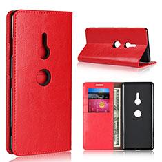 Coque Portefeuille Livre Cuir Etui Clapet L03 pour Sony Xperia XZ3 Rouge