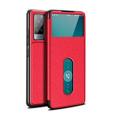 Coque Portefeuille Livre Cuir Etui Clapet L03 pour Vivo X60 5G Rouge