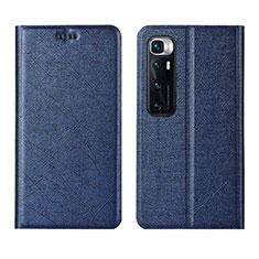 Coque Portefeuille Livre Cuir Etui Clapet L03 pour Xiaomi Mi 10 Ultra Bleu