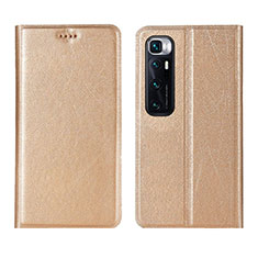 Coque Portefeuille Livre Cuir Etui Clapet L03 pour Xiaomi Mi 10 Ultra Or